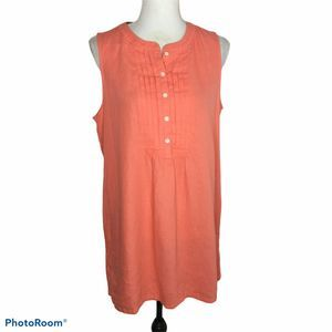 J Crew Factory Tuxedo Front Coral Tunic Dress